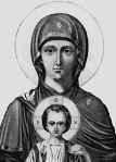 """Maica Domnului """"Epakouousa"""" – Manastirea Zografu"""