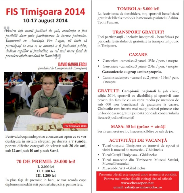 FIS Timisoara 2014